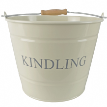 Small Kindling Bucket - Cream
